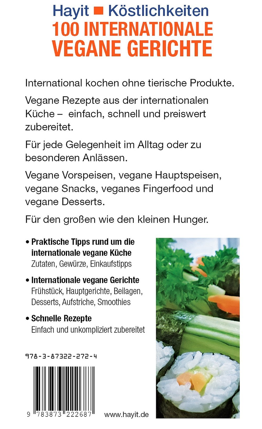 100 internationale vegane Gerichte - Hayit-Shop